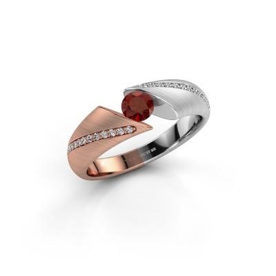 Engagement ring Hojalien 2 585 rose gold garnet 4.2 mm