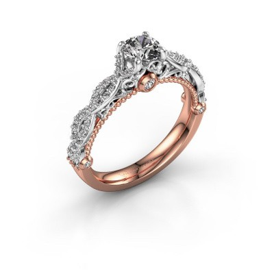 Verlovingsring Chantelle 585 rosé goud diamant 0.892 crt