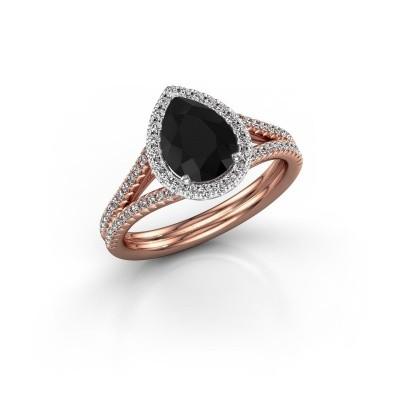 Foto van Verlovingsring Elenore 2 585 rosé goud zwarte diamant 1.527 crt
