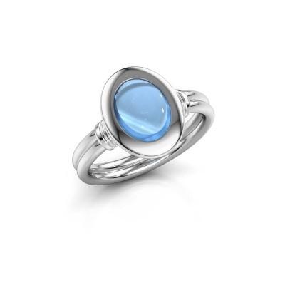 Bild von Ring Brittni 950 Platin Blau Topas 9x7 mm