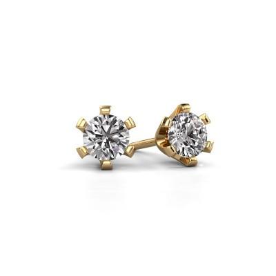 Oorstekers Shana 375 goud diamant 0.30 crt