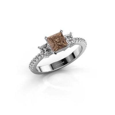 Verlovingsring Dorla 925 zilver bruine diamant 1.449 crt