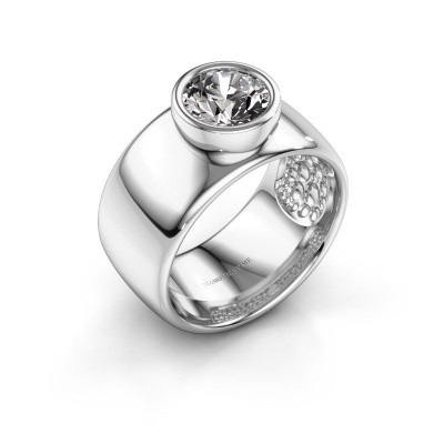 Ring Klarinda 925 zilver zirkonia 7 mm