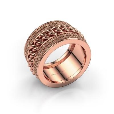 Foto van Ring Jayda 375 rosé goud bruine diamant 1.50 crt