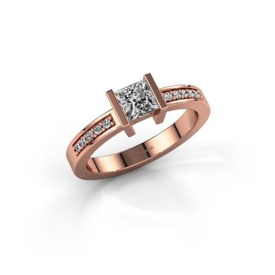 Engagement ring Jordan 375 rose gold diamond 0.50 crt