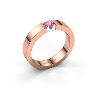 Foto van Belofte ring Dana 1 585 rosé goud roze saffier 3.7 mm