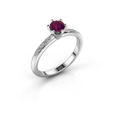 Picture of Engagement ring Tiffy 2 585 white gold rhodolite 4.7 mm