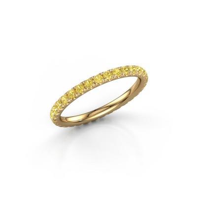Foto van Aanschuifring Jackie 1.7 375 goud gele saffier 1.7 mm