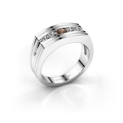 Foto van Heren ring Huub 585 witgoud rookkwarts 3.7 mm