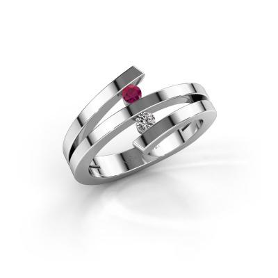 Bild von Ring Synthia 925 Silber Rhodolit 2.5 mm
