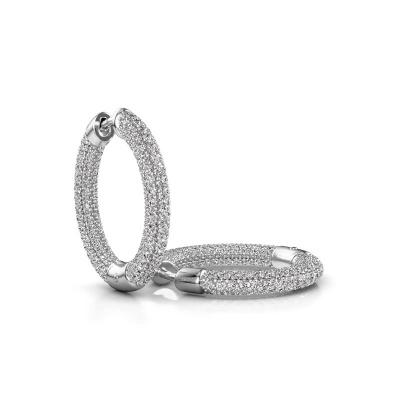 Foto van Creolen Hope 15mm 950 platina lab-grown diamant 2.679 crt