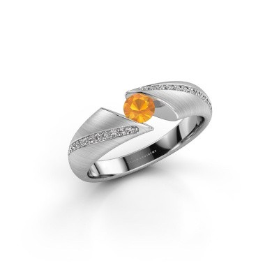 Bild von Ring Hojalien 2 925 Silber Citrin 4 mm
