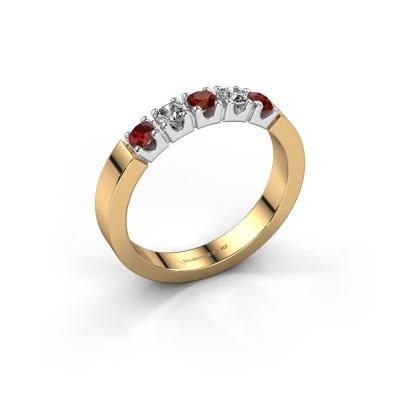 Engagement ring Dana 5 585 gold garnet 3 mm
