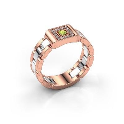 Foto van Heren ring Giel 585 rosé goud peridoot 2.7 mm