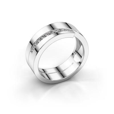 Foto van Ring Loma 585 witgoud diamant 0.165 crt