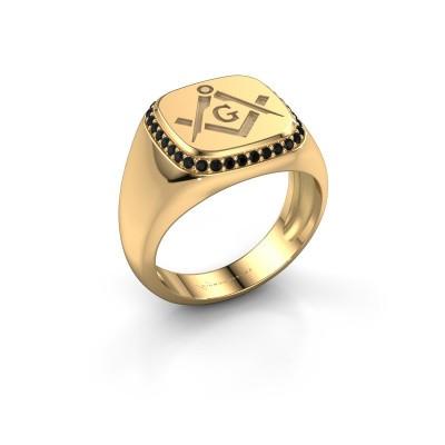 Foto van Heren ring Johan 585 goud zwarte diamant 0.306 crt