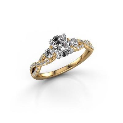 Foto van Verlovingsring Marilou OVL 585 goud lab-grown diamant 1.16 crt