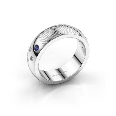 Bild von Ring Minke 925 Silber Saphir 2 mm