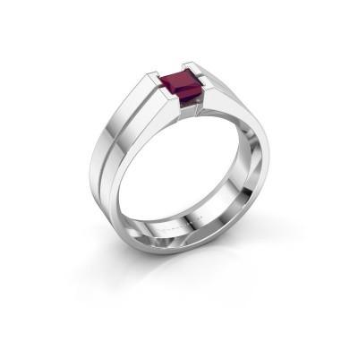 Foto van Heren ring Stefan 925 zilver rhodoliet 4.5 mm