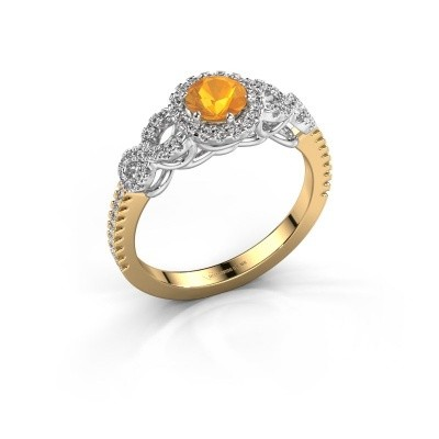 Engagement ring Sasja 585 gold citrin 5 mm