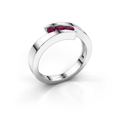 Foto van Ring Gracia 585 witgoud rhodoliet 2.7 mm