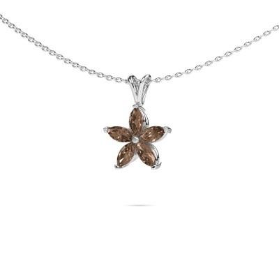 Foto van Ketting Sylvana 950 platina bruine diamant 0.14 crt