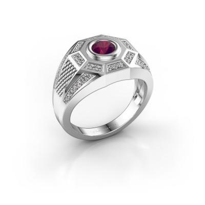Foto van Heren ring Enzo 375 witgoud rhodoliet 5 mm