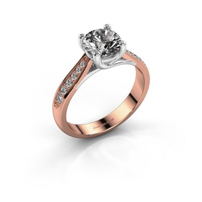 Verlovingsring Mia 2 585 rosé goud diamant 1.00 crt