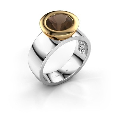 Ring Maxime 585 witgoud rookkwarts 8 mm