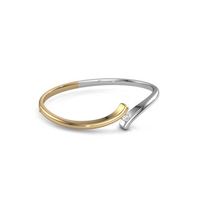 Picture of Bangle Amy 585 gold diamond 0.25 crt