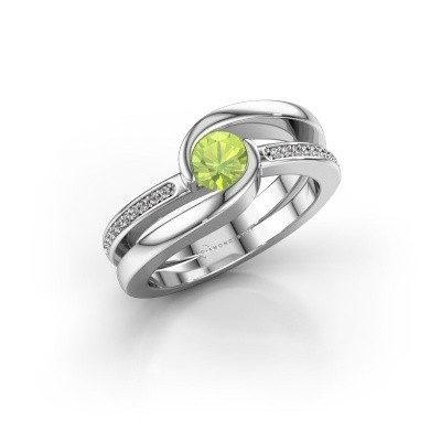 Picture of Ring Xenia 375 white gold peridot 5 mm