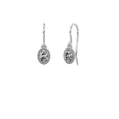 Oorhangers Seline ovl 925 zilver diamant 1.16 crt