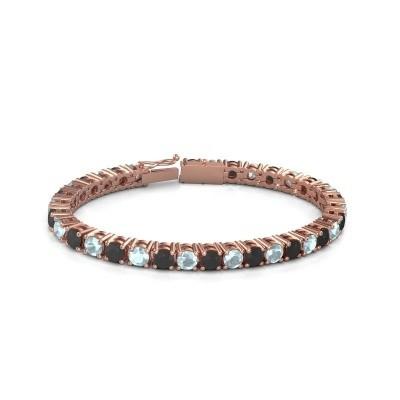 Tennisarmband Ming 375 rosé goud zwarte diamant 18.70 crt