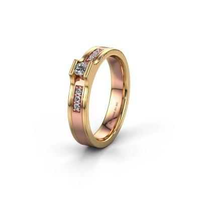 Trouwring WH2110L14A 585 rosé goud lab-grown diamant ±4x1.7 mm