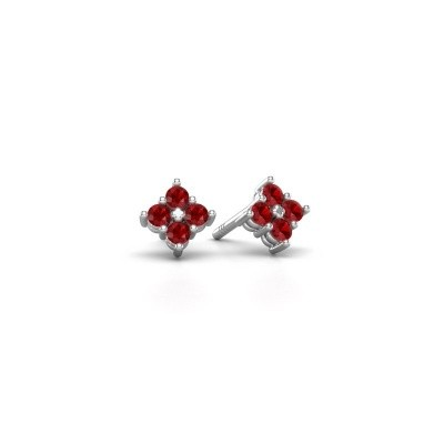 Picture of Stud earrings Maryetta 585 white gold ruby 2 mm