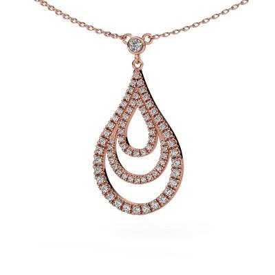 Foto van Hanger Delpha 375 rosé goud diamant 0.487 crt