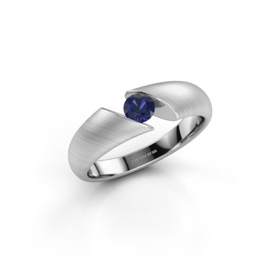 Picture of Engagement ring Hojalien 1 585 white gold sapphire 4 mm