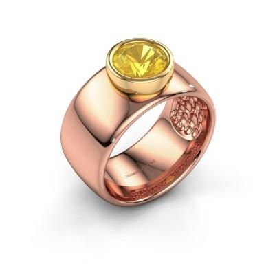 Ring Klarinda 585 rose gold yellow sapphire 7 mm