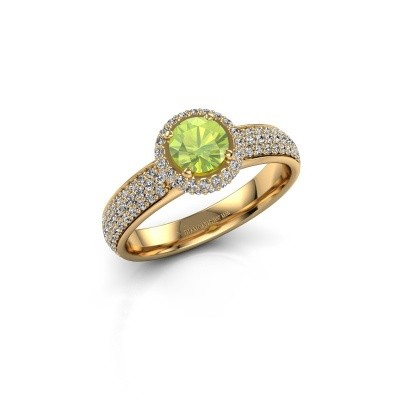 Engagement ring Mildred 375 gold peridot 5 mm