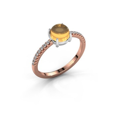 Ring Cathie 585 rose gold citrin 6 mm