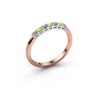 Verlovings ring Michelle 7 585 rosé goud peridoot 2 mm
