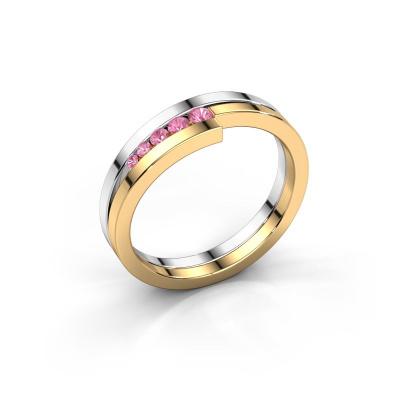 Ring Cato 585 Weißgold Pink Saphir 2.2 mm