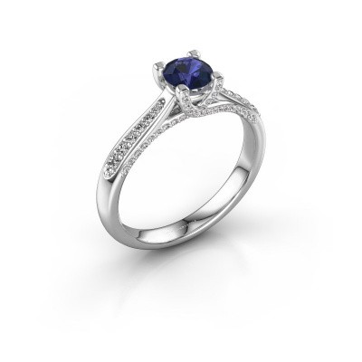 Picture of Engagement ring Mia 3 925 silver sapphire 5 mm