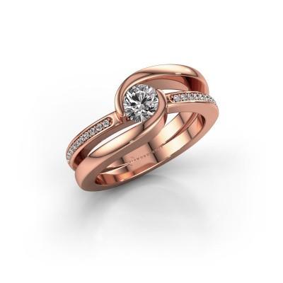 Foto van Ring Xenia 2 375 rosé goud diamant 0.60 crt
