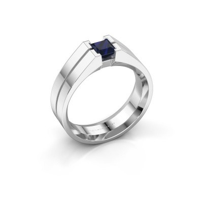 Foto van Heren ring Stefan 375 witgoud saffier 4.5 mm