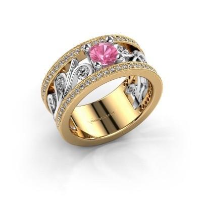 Ring Sanne 585 goud roze saffier 5 mm