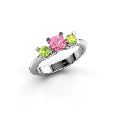 Ring Mirthe 925 silver pink sapphire 5 mm