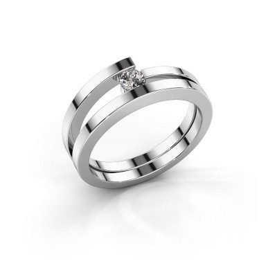 Foto van Ring Sandy 925 zilver lab-grown diamant 0.15 crt