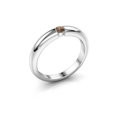 Foto van Verlovingsring Amelia 950 platina bruine diamant 0.10 crt