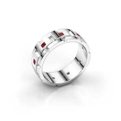 Foto van Heren ring Ricardo 950 platina robijn 2 mm